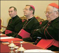 "Monsignor Parolin, Archbishop Giovanni Lajolo, then the Vatican's ""foreign minister,"" and the Vatican Secretary of State Cardinal Angelo Sodano"